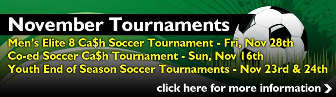 November Soccer Tournaments