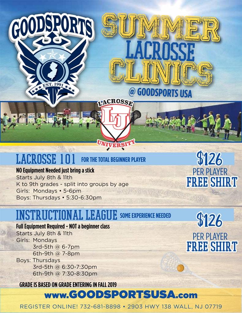 Summer Lacrosse Clinics – GoodSports USA
