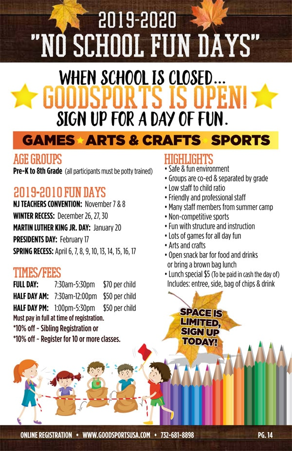 No School Fun Days! – GoodSports USA